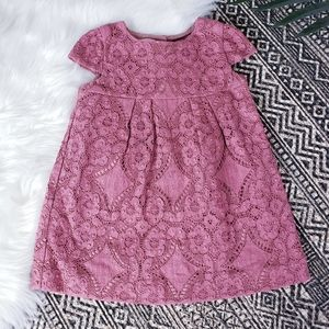 Burberry Broderie Lace Cap Sleeve Dress 18M